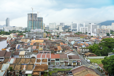 heritage site: Heritage Site Of George Town Cityscape View in Penang Malaysia
