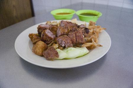 pinang: Penang Lobak is a popular dish in Malaysia served at local famous restaurant