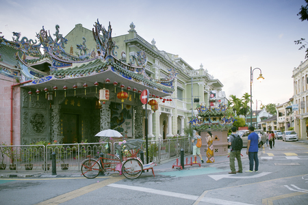 pinang: Yap Kongsi Temple, a Chinese temple, which is located in Armenian   Street, George Town, Penang, Malaysia. Yap Kongsi is the Choo Chay   Keong Temple, which houses the altar to the Yap patron deity, Hoay   Che Chun Wang.
