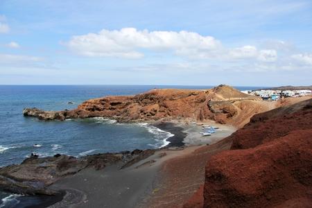 golfo: Overlooking El Golfo - Lanzarote, Canary Islands.