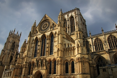 minster: York Minster - Yorkshire, UK. Stock Photo
