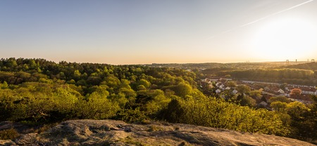 botanic garden: beautiful sunset at botanic garden - Gothenburg Sweden Stock Photo