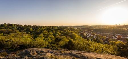 lonley: beautiful sunset at botanic garden - Gothenburg Sweden Stock Photo