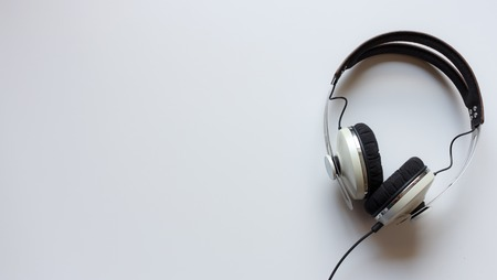 Single headphones on a table