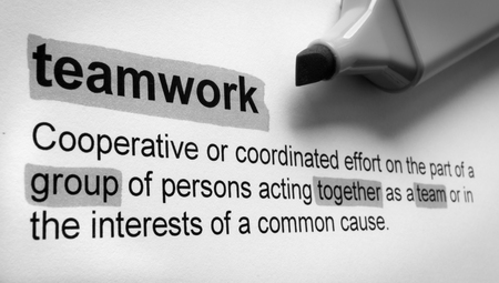 benefit: Definition of teamwork, highlighted in colour