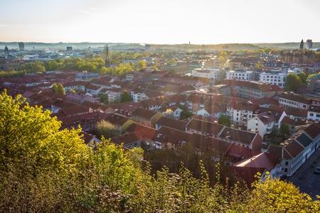 gothenburg: Beautiful cityscape at sunrise - Gothenburg, Sweden Stock Photo