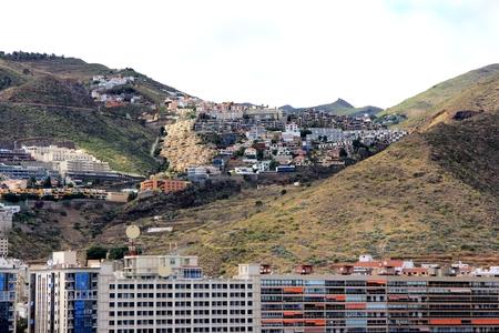 santa cruz de tenerife: Beautiful view from cruise ship at a part of Santa Cruz de Tenerife - Canary Islands, Spain