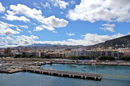 santa cruz de tenerife: View at Santa Cruz de Tenerife from cruise ship - Canary Islands, Spain