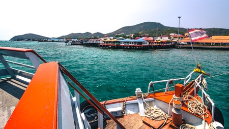 ship bow: Little paradise Koh Lan in Thailand.