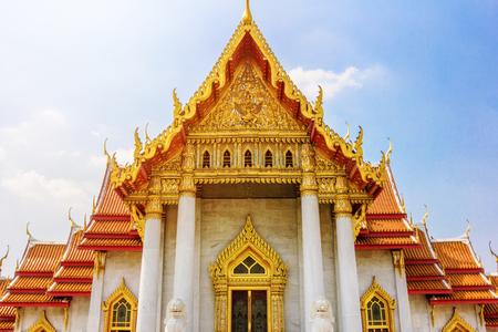 The marble temple Wat Benchamabophit - Bangkok, Thailand.