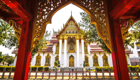 Marble temple - Bangkok, Thailand. Imagens