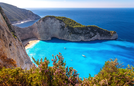 Shipwreck beach - Zakynthos, Greece.