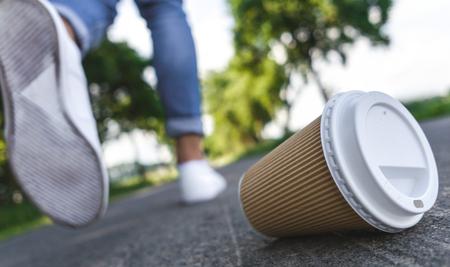 Used Coffee mug - symbol for pollution.