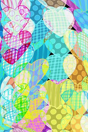 adoration: pattern with hearts