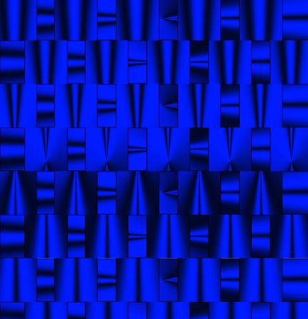 balck: abstract texture of futuristic shapes in metallic blue and balck Stock Photo