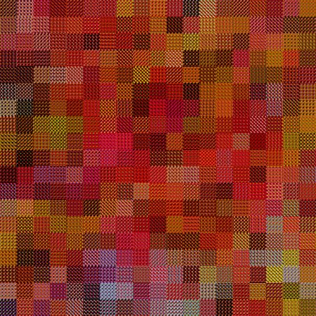 texture of many textile rags in warm colors photo