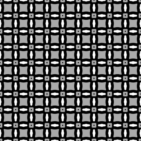 abstracted: seamless texture of abstracted shapes in black and white
