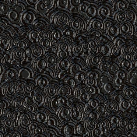 Retro-glänzende Locken Aufdruck in schwarzer Hintergrund