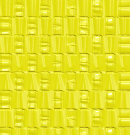 abstracted: seamless bright yellow texture with abstracted shapes Stock Photo