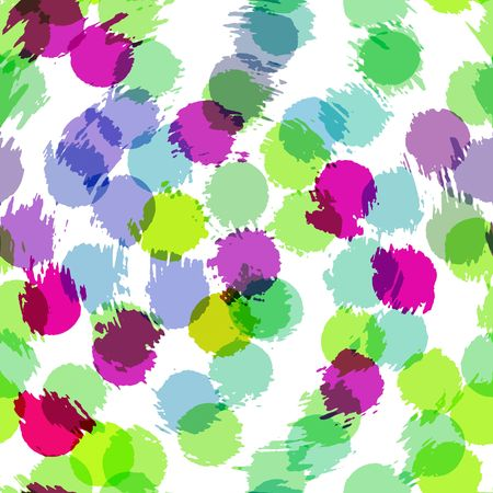 seamless texture of transparent colored spettered spots