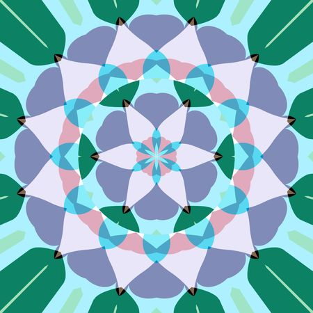 abstract mandala like pastel colored symmetric lotus flower shape photo