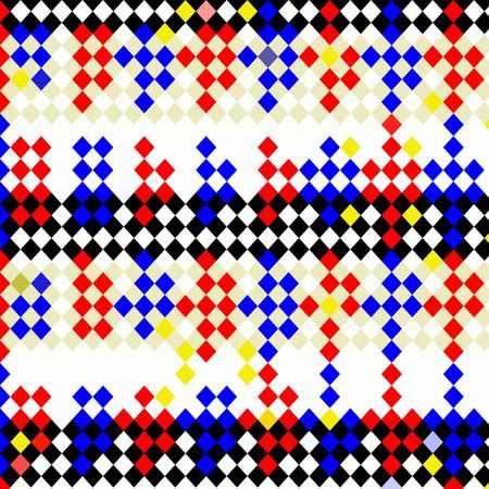 abstract texture of bright checks in primary colors Stock Photo - 4389000