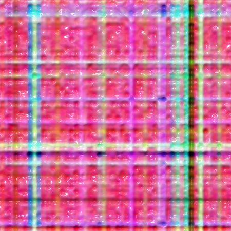 waxy: 3d texture of waxy red tartan background