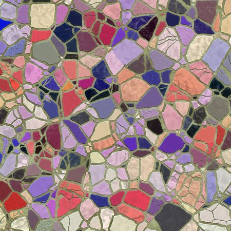 texture of bright slate stone mosaic in cement Stock Photo