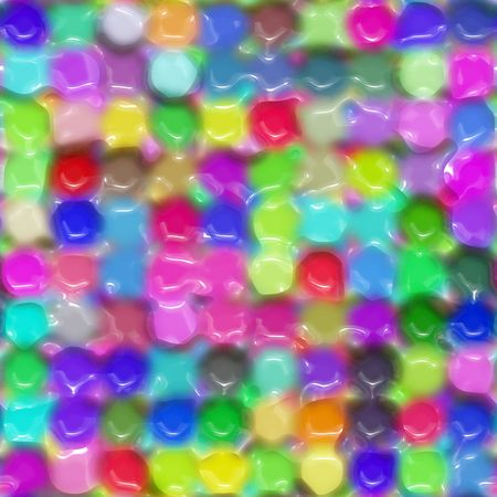 waxy: texture of bright imprinted round color dots