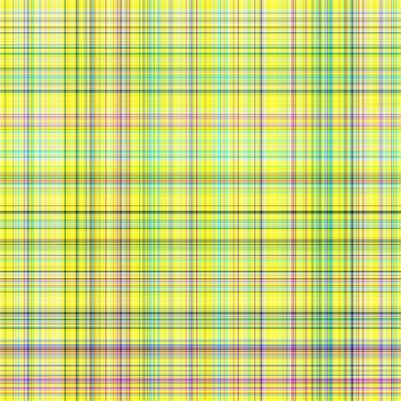 seamless texture of detailled woven tartan in bright yellow
