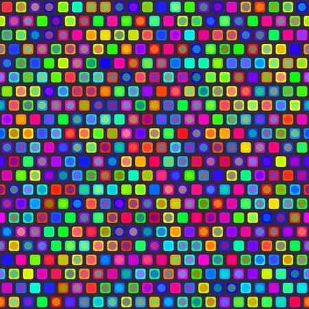 seamless texture of bright square and round shapes  photo