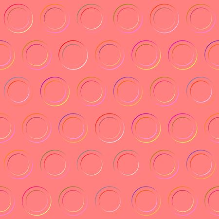 imprinted: seamless texture of imprinted rounds in a red plate