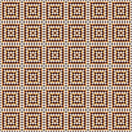 seamless texture of brown and white tiles in arabic style Stock Photo