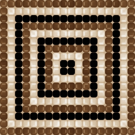 seamless texture of glossy brown, cream and black rounded squares photo