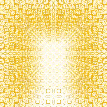 suggesting: texture of many yellow shapes over eachother suggesting depth