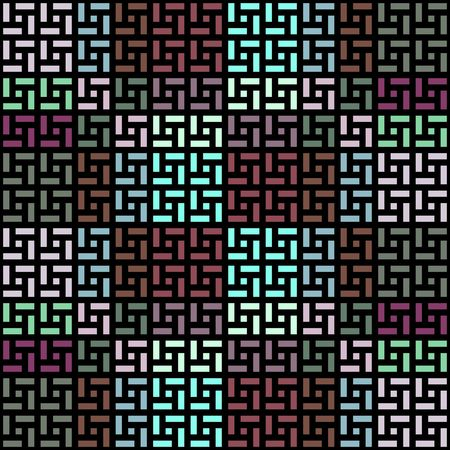 seamless texture of art-deco square shapes on black photo