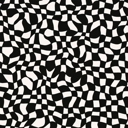seamless texture of swirling black and white blocks photo