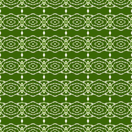 seamless texture of abstracted olive green shapes in tribal style photo