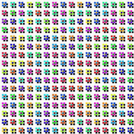 abstracted: seamless texture of colorful abstracted flowers and hard shadows