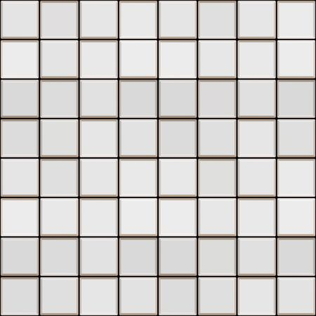 seamless texture of white glossy square tiles  Stock Photo