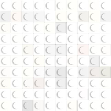 3d texture of square white constructing blocks Stock Photo