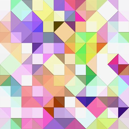 seamless texture of vibrant triangles and squares