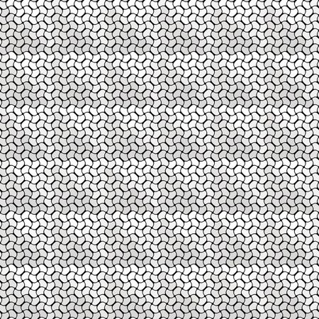 weaved: seamless texture of small weaved grey and white shapes Stock Photo