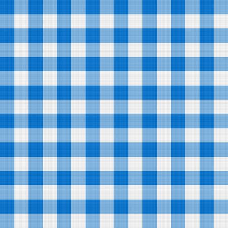 gingham: seamless texture of blue and white blocked tartan cloth Stock Photo