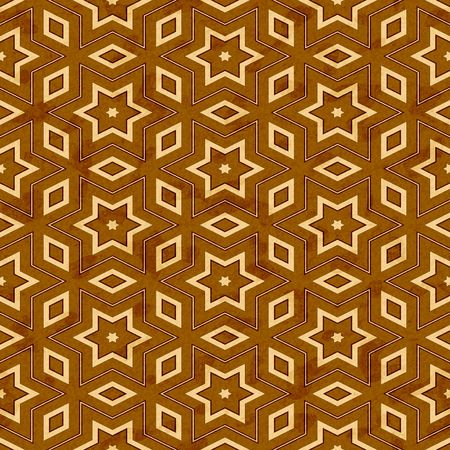 seamless texture of brown wood with yellow stars and shapes Stock Photo - 4739326
