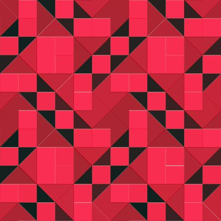 seamless texture of vibrant triangles and squares photo
