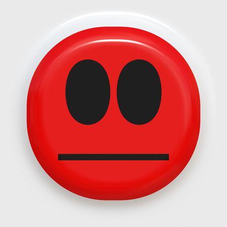 ashamed: rojo cara sonriente mirando enojado o avergonzado