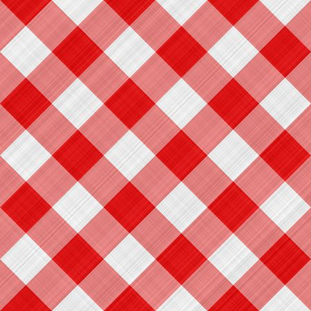 seamless texture of red and white blocked tartan cloth