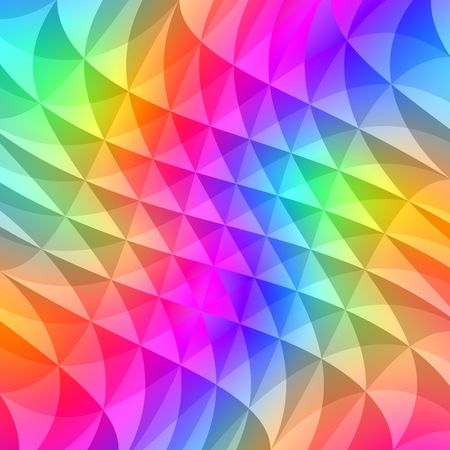 prisme: la texture de l'ondulation des formes dans des couleurs vives