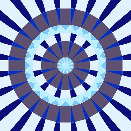 future buddha: mandala like pattern of blue and grey abstract circle shapes